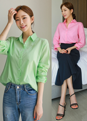 <b><FONT color=#0e656c>[Berry only]</font></b> <br> Capsule Vivid Cotton Shirt