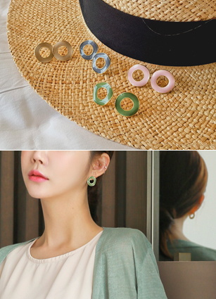 Donut Epoxy Color earring