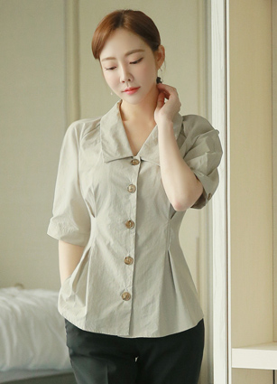 Kings pin tails line Kara Blouse