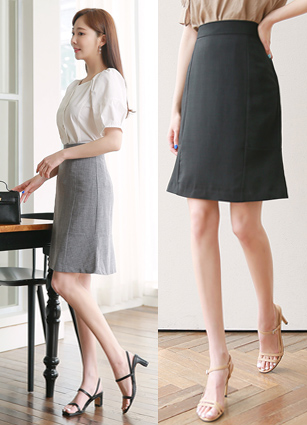 Invisible Incision ALine Skirt <B>(S, M)</b>