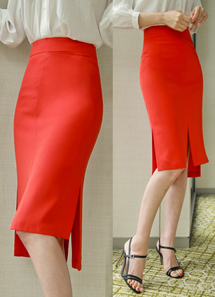 Carmel Slit HLine Midi Skirt <B>(S, M, L)</b>