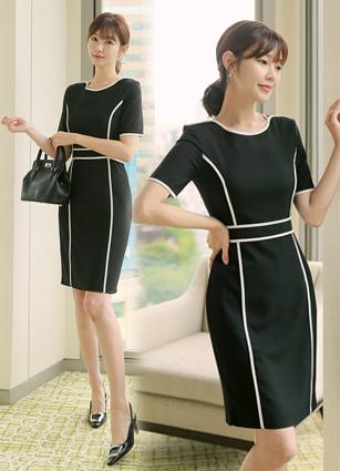 Miel Appearance Slim One-piece dress <B>(S, M, L)</b>
