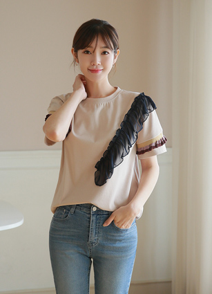Hershey's ruffle color T-shirt