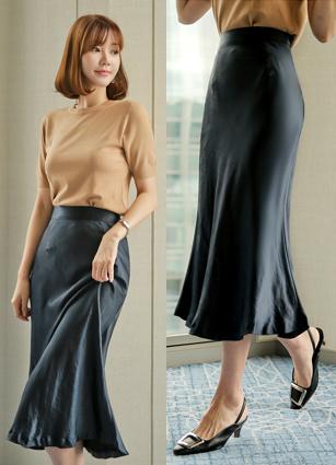 Sandy Mermaid Satin Skirt