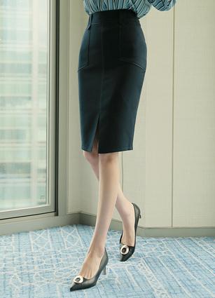 Sellers Stitch Slit Skirt (S, M, L)