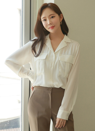 Nico Two Pocket Kara Blouse