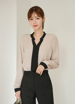 Sander Color China Blouse <br>