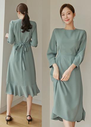 <b><FONT color=#980000>New 10% discount</font></b> <br> Blair Pinteok Slit One-piece dress