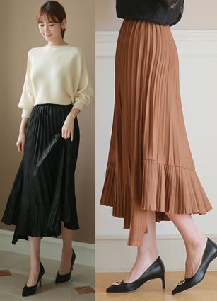 Clément Eonbal Pleats Long Skirt <br>