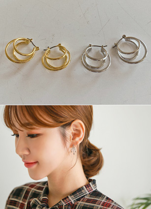 Eto 3line ring earring