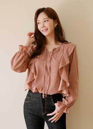 Lucia Frill Jankkot blouse <br> <FONT color=#0100FF>♤ Same day delivery when ordering alone♤</font> <br>