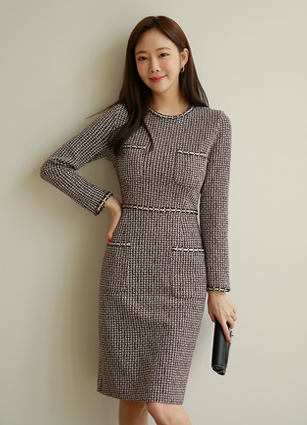 <b><FONT color=#980000>Special Offer 35% OFF</font></b> <br> Liana Trimming Pocket One-piece dress <br>