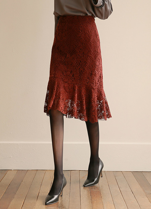 Tilia Velvet Lace Mermaid Skirt (S, M, L)