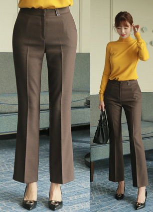 Casa Buckle Boot Cut Slacks (S, M, L) <br>