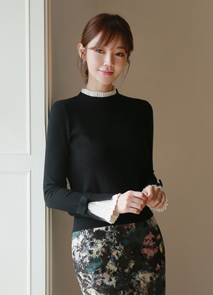 Pleated mood Knit <br>
