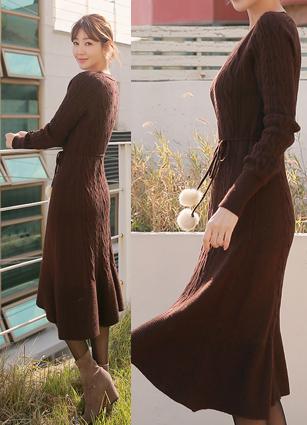 Love Me Wool One-piece dress (Belt set)