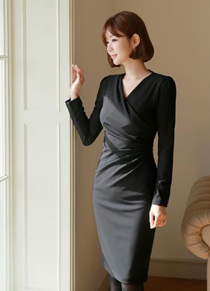 Daien Shirring One-piece dress (S, M, L)
