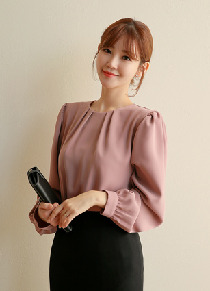 Ivy Shirring Blouse <br>