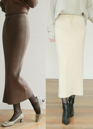 Cashmere Golgi Knit Skirt <br>