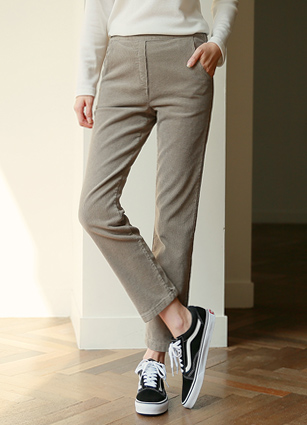 May back bending Corduroy Pants (S, M, L) <br>