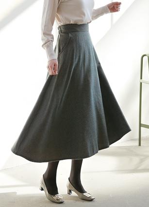 Bayer Wool Flare Skirt <br>