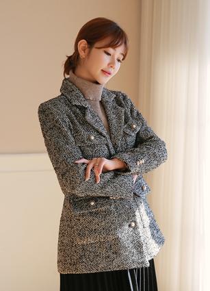 Renoir Pearl Herringbone Wool Jacket <br>