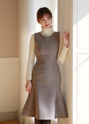 Ruboom Mermaid Wool One-piece dress (S, M, L) <br>