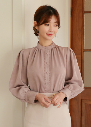Sepia Shirring Blouse <br>