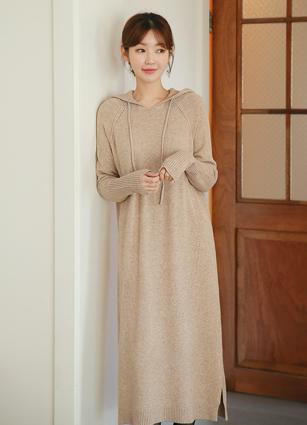 Rev Cass Hood Knit One-piece dress <br>