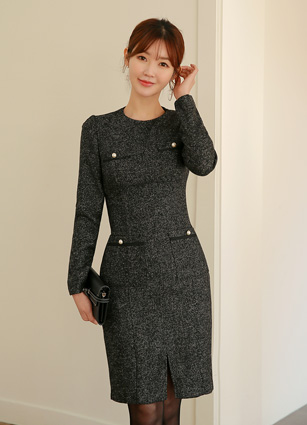 Lily Pearl Pocket One-piece dress (Belt set) <br>