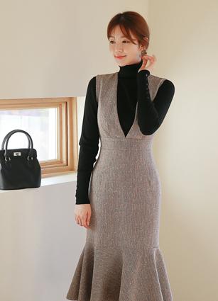 Bran Mermaid Sleeveless One-piece dress (S, M, L) <br>