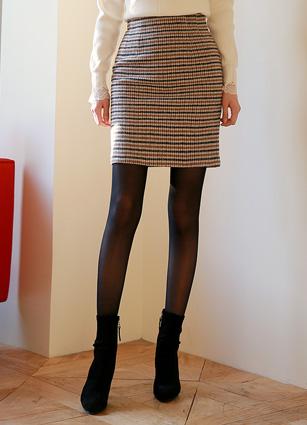 Bristol Check MIDI Skirt (S, M, L) <br>