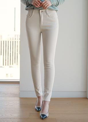 <b><FONT color=#980000>New 10%</font></b> <br> Warm brushed secret banding skinny pants (S, M, L) <br>