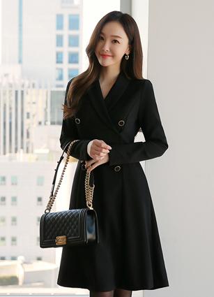 Mijyu Shawl Double One-piece dress (S, M, L) <br>