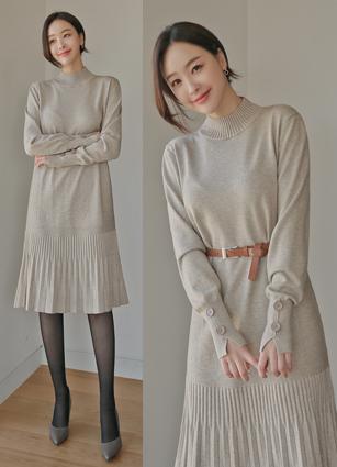<b><FONT color=#980000>New 10%</font></b> <br> Janet Knit One-piece dress (Belt set) <br>
