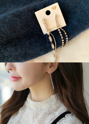 Laura Cubic earring <br>