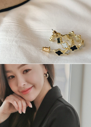 Cliff ring earring <br>