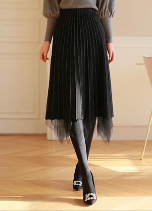Feminine Pearl Reversible Knit Skirt <br>