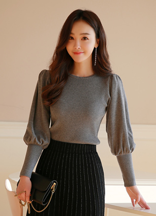 Carrot Puff Knit <br>