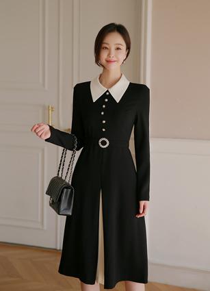 Moazel ALine One-piece dress (Belt SET) (S, M)