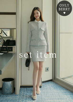 Belluna Tweed Jacket+Skirt <br>