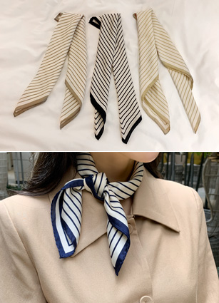 Diagonal Stripe Scarf <br>