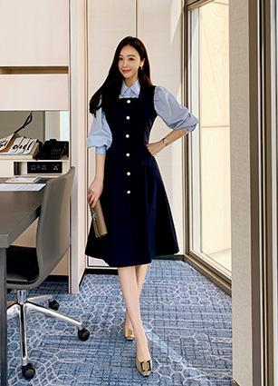 Jardin Square One-piece dress (FREE, L) <br>