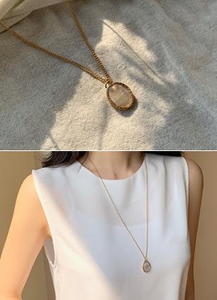 Marble gemstone Necklace <br>