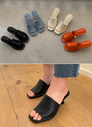 """Philip Mule Sandals <font color=""""#ed1558""""><b>[Heel: 6cm]</b> <br></font>"""