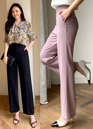 Summer Version Course Wide Slacks(S,M,L) <br>