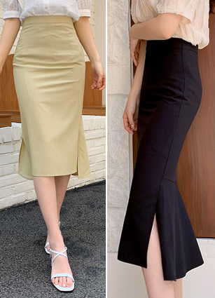 Kael Slit Long Skirt(S,M) <br>