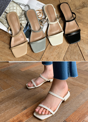 "Number Two Strap Sandals <font color=""#ed1558""><b>[Heel:2cm]</b> <br></font> <br>"