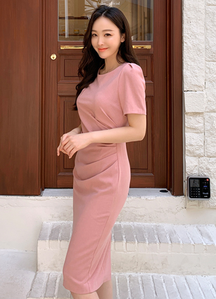 If Shirring Span One-piece dress(S,M,L) <br>