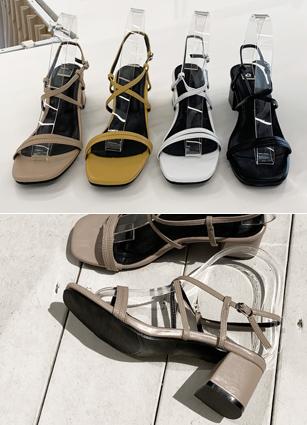 """Strap Middle Heel <font color=""""#ed1558""""><b>[Heel:5cm]</b> <br></font>"""